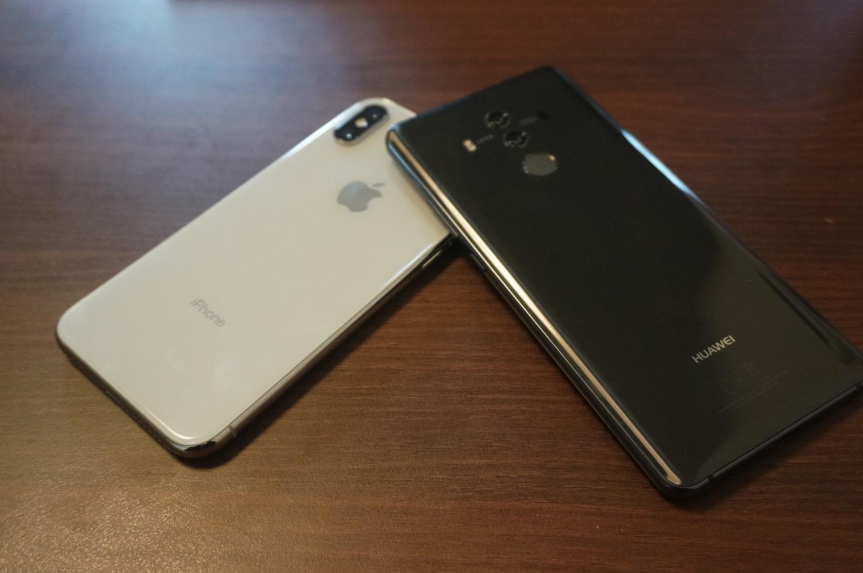 iPhone X Mate 10 Pro