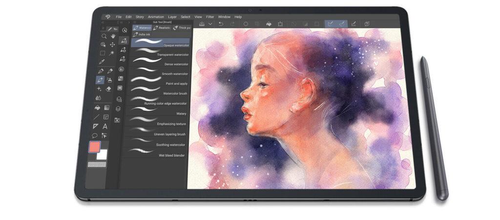 Galaxy Tab S7 Clip Studio